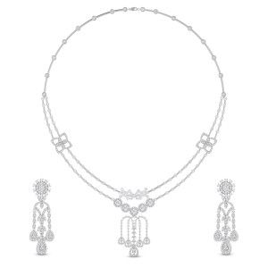 Karabi Diamond Necklace Set