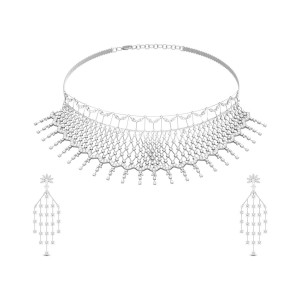 Kairavi Sequential Diamond Necklace Set