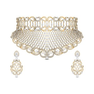 Lahari Diamond Necklace Set
