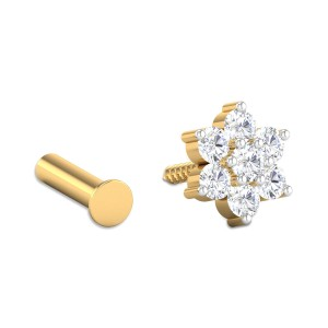 Contemporary Seven Stone Diamond Nosepin