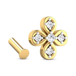 Savannah Five Stone Floral Diamond Nosepin