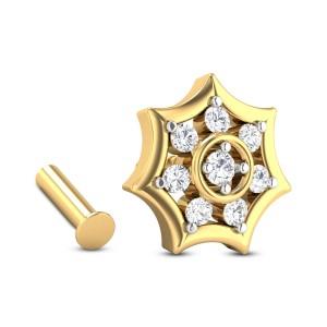 Holden Eight Stone Floral Diamond Nosepin