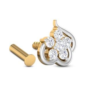 Lucille Five Stone Diamond Nosepin