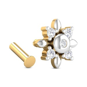 Lennox Five Stone Floral Diamond Nosepin
