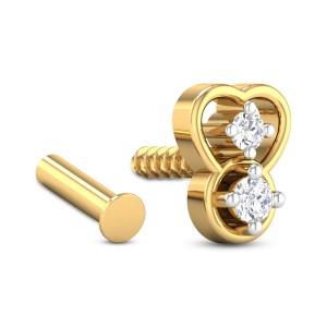 Amadeus Two Stone Diamond Nosepin
