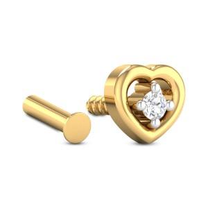 Presley Heart Diamond Nosepin