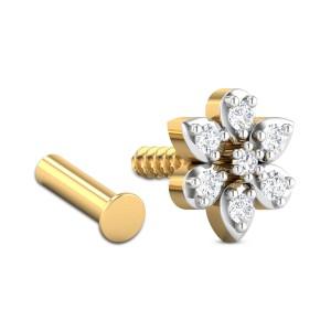 Mandolin Floral Diamond Nosepin