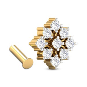 Clemencia Nine Stone Diamond Nosepin
