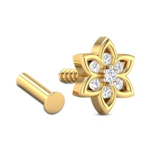 Campana Floral Diamond Nosepin