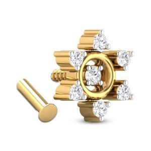 Calvina Seven Stone Diamond Nosepin