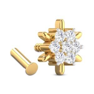 Basilia Floral Diamond Nosepin