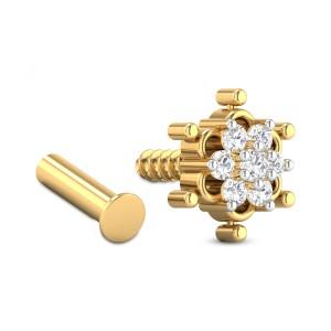 Athalia Floral Diamond Nosepin