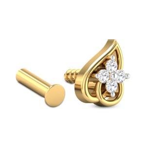 Arria Leafy Four Stone Diamond Nosepin