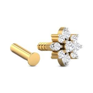 Aphra Nine Stone Diamond Nosepin