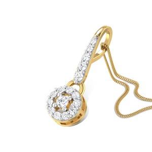 Fern Leaf Diamond Pendant