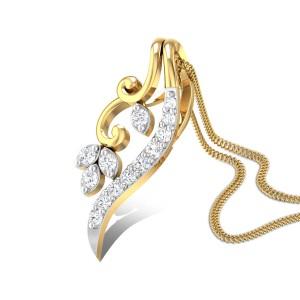 Apple blossom Diamond Pendant