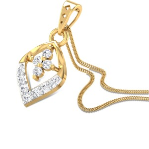 Pasque flower Diamond Pendant