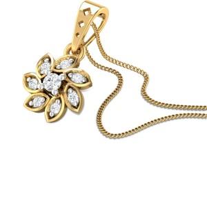 Carline Thistle Diamond Pendant