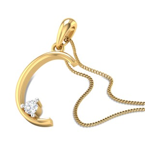 Initial C Diamond Pendant