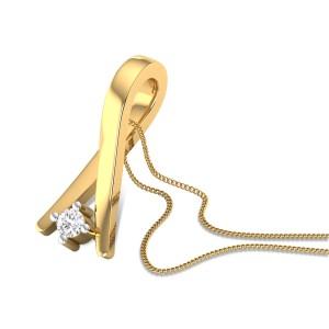 Cyclamen Diamond Pendant