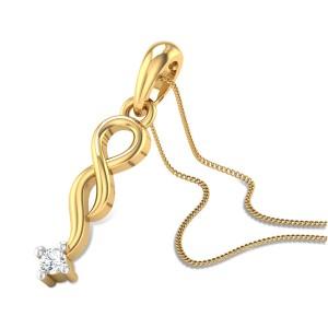 Entwined Love Diamond Pendant