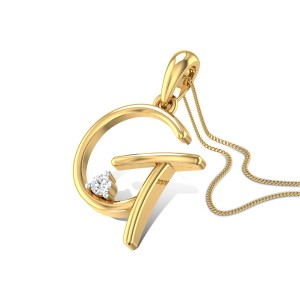 Initial G Diamond Pendant