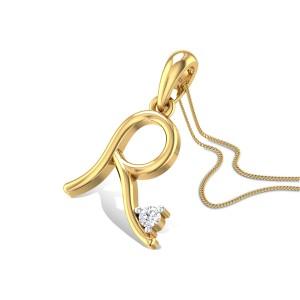 Initial R Diamond Pendant