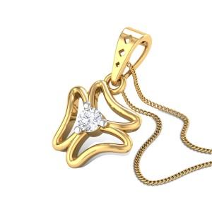 Inca Lilly Diamond Pendant