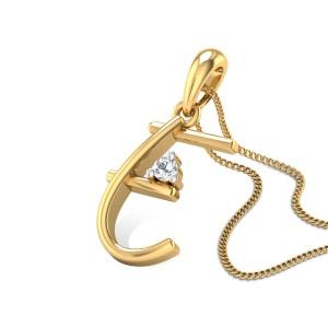 Initial E Diamond Pendant