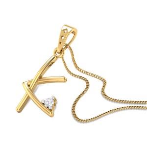 Initial K Diamond Pendant