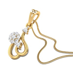 Floral Basket Diamond Pendant