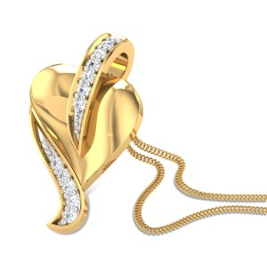 Peepal Leaf Diamond Pendant