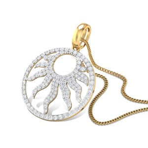 Placida Sun Rays Diamond Pendant