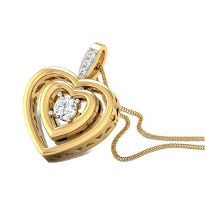 Hip Hop Heart Diamond Pendant
