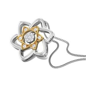 Gliding Grace Diamond Pendant