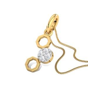 Classy Hexagons Diamond Pendant