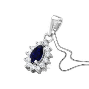 Royal Blue Diamond Pendant