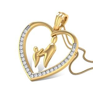 Mother's Love Diamond Pendant