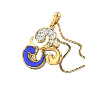 Kalapi Om Diamond Pendant