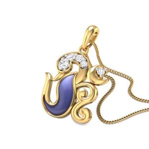 Chandraki Om Diamond Pendant
