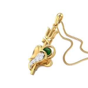 Ganapalaka Diamond Pendant