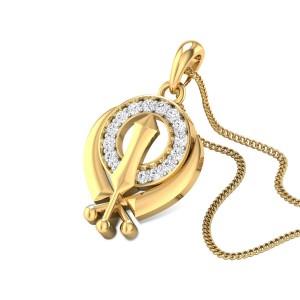 Deific Khanda Diamond Pendant