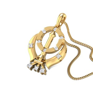 Holy Khanda Diamond Pendant