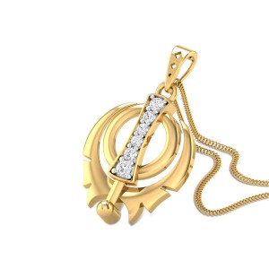 Sacred Khanda Diamond Pendant