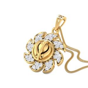 Diamond Khanda Pendant