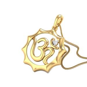 Ghanashyam Om Diamond Pendant
