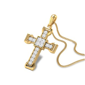 Sacred Cross Diamond Pendant