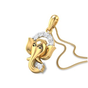 Gajanantha Diamond Pendant