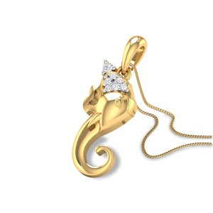 Vigneshwara Diamond Pendant