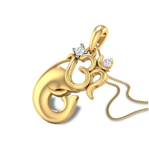 Vighnarajendra Diamond Pendant